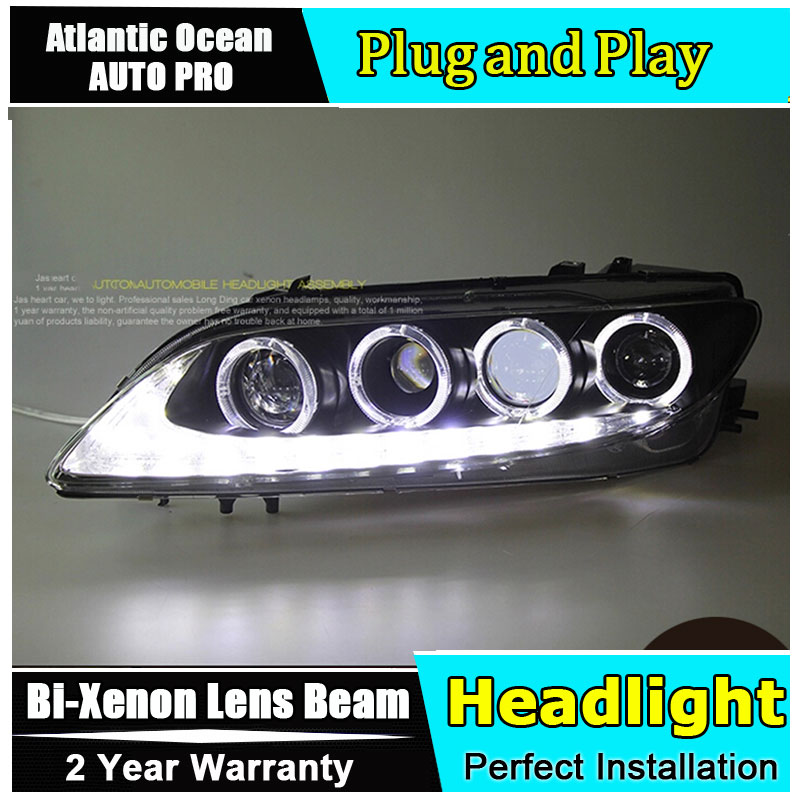 Auto Lighting Style LED Head Lamp for Mazda 6 led headlights 2006-2013 mazda6 signal angel eye drl HID KIT Bi-Xenon Lens low bea hireno headlamp for 2016 hyundai elantra headlight assembly led drl angel lens double beam hid xenon 2pcs