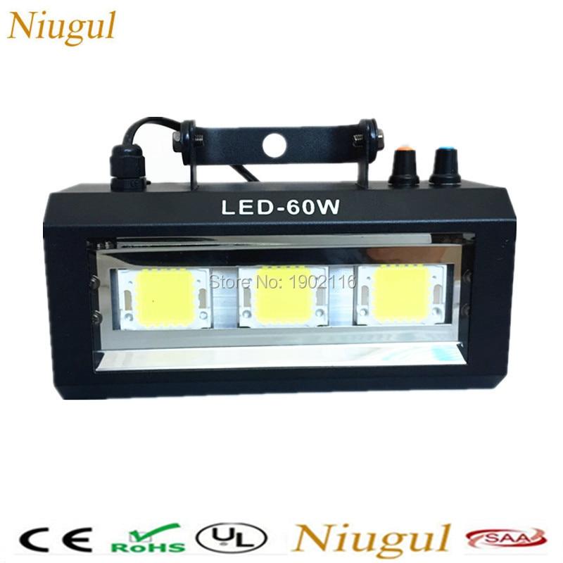 Niugul Free Shipping LED 60W Strobe Lights/60W LED Flash/Disco DJ Lighting/Club KTV Party Lights /60W LED Strobe Light/LED Lamp цена