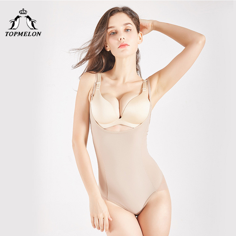 TOPMELON Shapers Women Underbust Lingerie One Piece Open Crotch Slimming Underwear Women Body Shaper