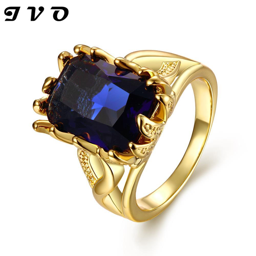 24k real yellow gold rose gold zircon stone fashion rings. Black Bedroom Furniture Sets. Home Design Ideas