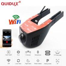 QUIDUX Novatek 96658 Full HD 1080 P Del DVR del Coche Universal Wifi cámara Del Coche DVR Grabador de Vídeo Monitor Dash Cam Cuadro Negro videocámara