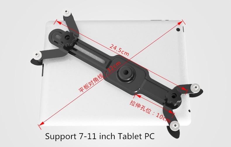 Muurbevestiging keuken tablet pc stand screen graden draaibare