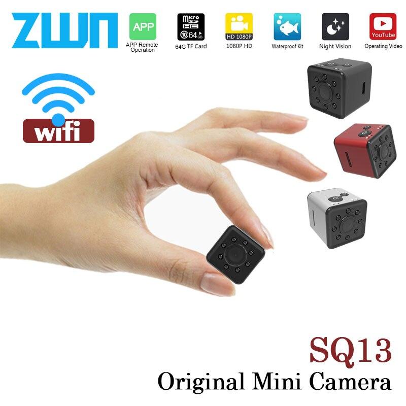 ZWN SQ12 SQ13 D'origine Mini Cam WIFI Caméra FULL HD 1080 p Vision Nocturne Imperméable À L'eau shell CMOS Capteur Micro DVR enregistreur Caméscope