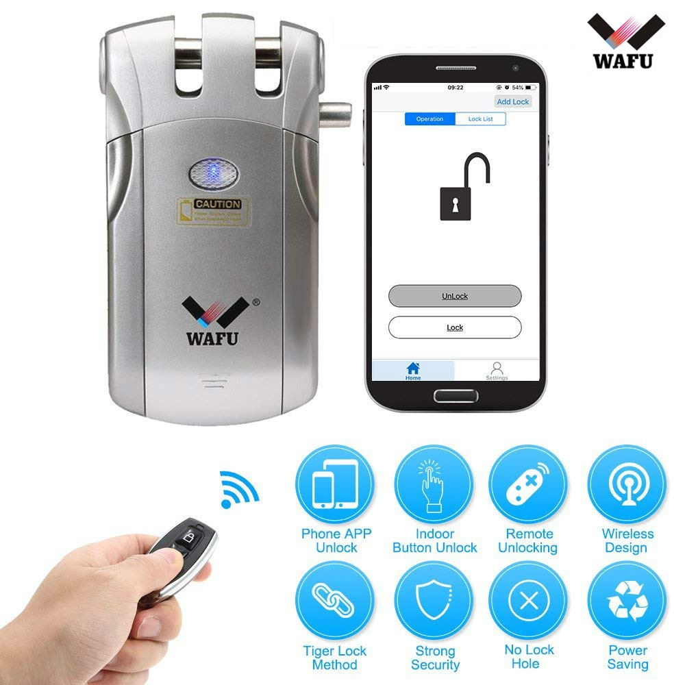Wafu 018 Electric Bluetooth Door Lock Wireless Control With Remote Control Open & Close Smart Lock Security Door Easy InstallingWafu 018 Electric Bluetooth Door Lock Wireless Control With Remote Control Open & Close Smart Lock Security Door Easy Installing