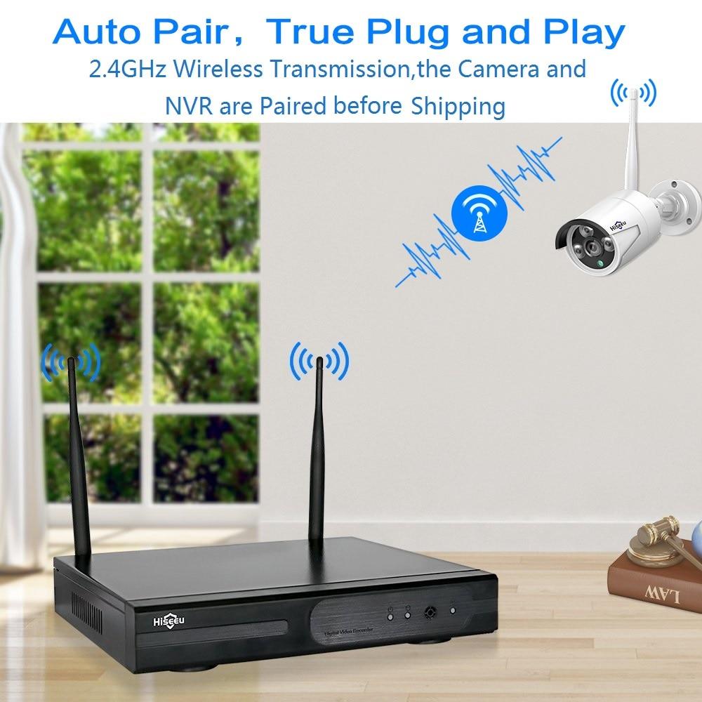 2MP 1080P système de vidéosurveillance 8ch HD sans fil NVR kit 3 to HDD extérieur IR Vision nocturne IP Wifi caméra système de sécurité Surveillance Hiseeu - 2