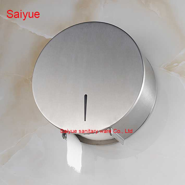 Modern Charming Round wall Mounted Bathroom Accessories Stainless Steel 304 Toilet Paper Holder Tissue  Roll porte-papier Box new pure luxury white painting toilet lavatory wc paper holder with diamond roll tissue porte papier bathroom accessories