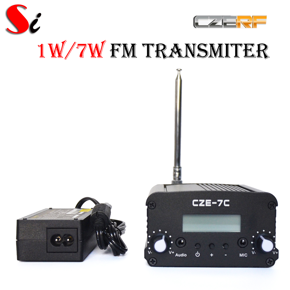 Online Shop Cze 7c 7w Stereo Pll Fm Transmitter Broadcast Radio 1w Circuit Station Ps Ant Kit Aliexpress Mobile