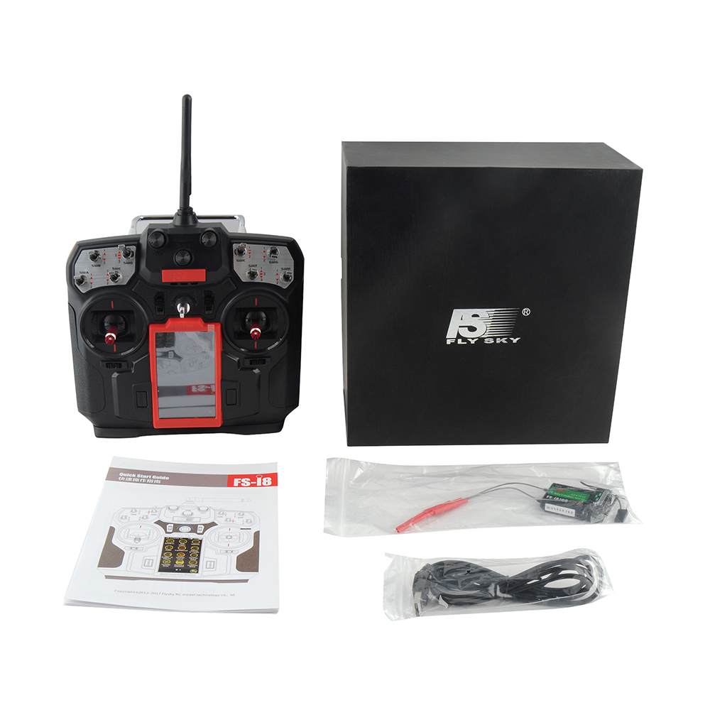 Flysky FS-I8 8 Channel Transmitter with IA10B / IA6B Receiver RC Remote Conroller 2.4G 8CH for Drone Quadcopter Helicopter aeromodelling usb analog cable fms simulator for flysky sm100 drone 2 4g rc