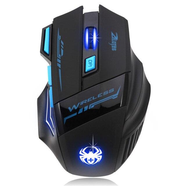 Heißer verkauf 7 Schlüssel Gaming Maus 2,4 GHz Wireless Maus gamer 2400 DPI Mäuse Optische USB Empfänger PC Computer Wireless für Laptop Geschenke