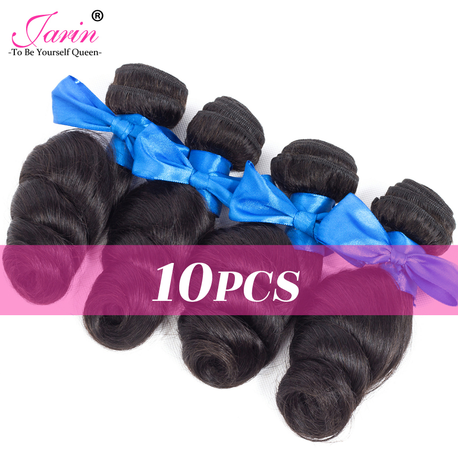 Remy-Hair 100%Human-Hair-Extensions Bundles Wave Deal Jarin Hair-10pieces Brazilian Can-Mix-Length