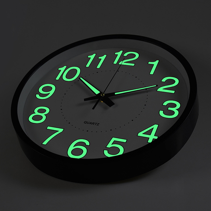 12 Inch Moon Luminous Wall Clocks 2019 New Circular Quartz Clocks Home Decor Bedroom Decor Glowing In The Dark Relogio De Parede