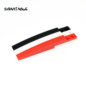 Smartable Slope Curved 1x10 Building Blocks MOC Parts Learning Toys For Kids STEAM Compatible Major Brand 85970 City 20pcs/lot