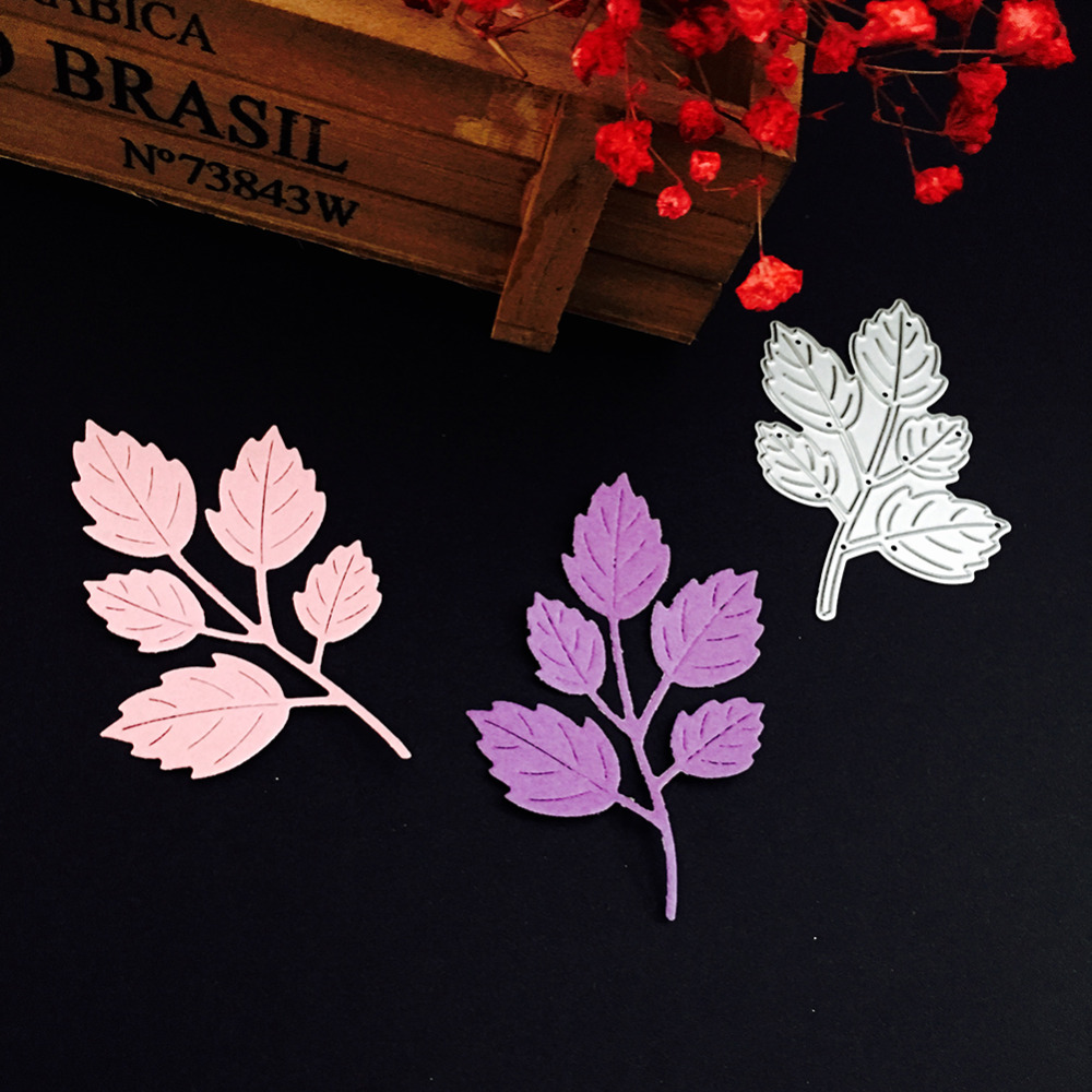 Leaves Cards Making Metal Cutting DiesFor DIY Scrapbooking Photo Album Embossing Paper Card Crafts Template Knife Mold
