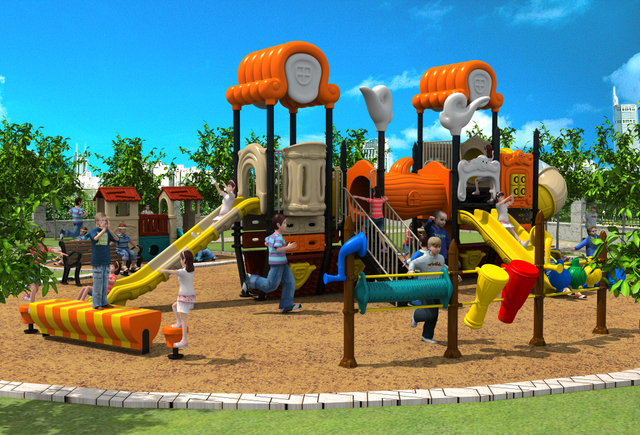 Nursery School Amut Outdoor Playground Park Entertainment Play Structure Equipment For Ylw 17933