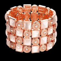 The Real Rose Gold Plated Charm Bracelets Bangles Opal Jewelry For Women Top Quality Luxury Sexy