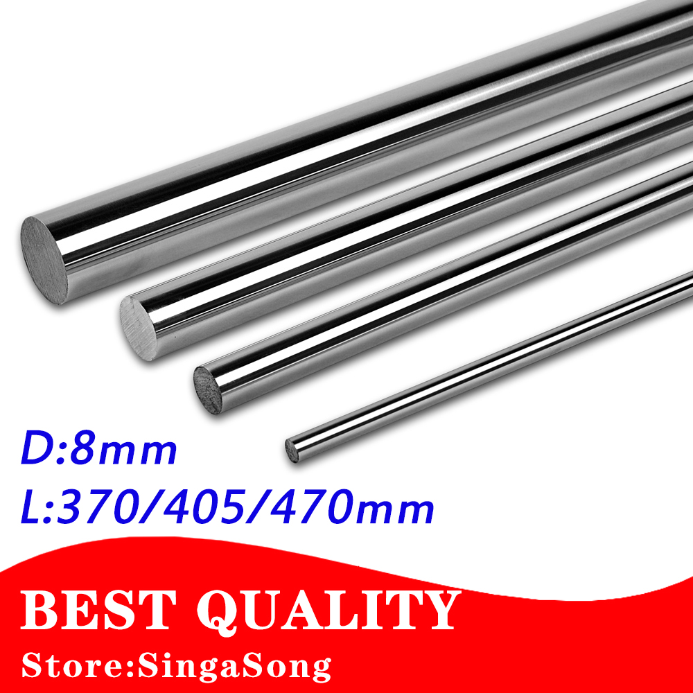 8mm linear shaft L 370/405/470mm Linear rail round shaft 8mm linear guide rail for 2pcs each length 2pcs lot 8mm linear shaft 800mm 8mm linear shaft length 800mm chrome plated linear guide rail round rod shaf