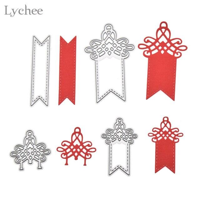 Lychee 4pcs Hang Tag Metal Cutting Dies Stencils DIY Scrapbooking