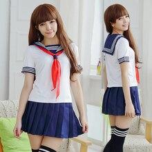 Japonés uniforme escolar para las niñas japón estudiante uniforme escolar de marinero cosplay uniforme escolar japonés cosplay uniforme de la marina