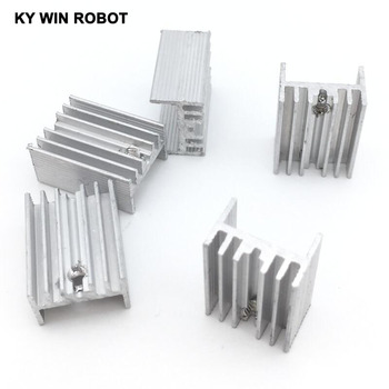 5pcs Free Shipping Aluminium TO-220 Heatsink TO 220 Heat Sink Transistor Radiator TO220 Cooler Cooling 21*15*10MM