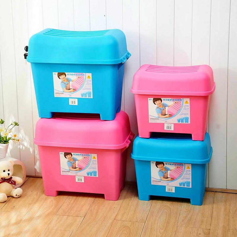 Kinderspeelgoed Lockerslot Creatieve Ontvangen Kruk Opslag Kruk Plastic Kruk In Schoenen Waterdichte Badkamer Anti-skid Kruk