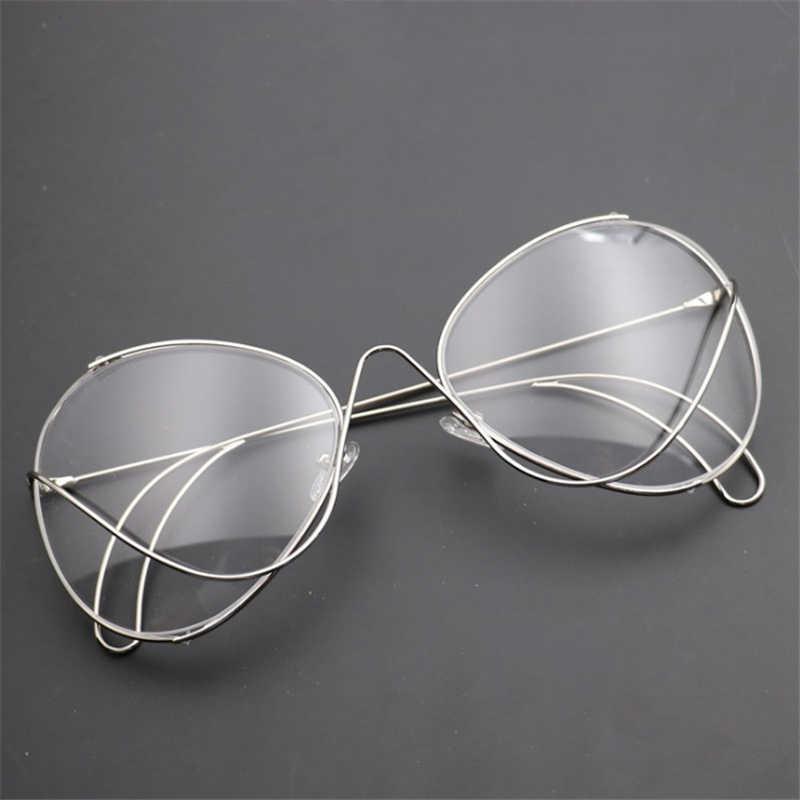 1f6bc0864d0 ... Mincl Retro big frame irregular personality line creative glasses frame  fashion man woman fun casual ...