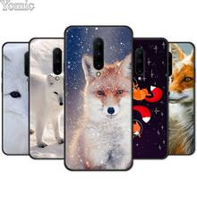 Black Case for Oneplus 7 7 Pro 6 6T 5T Silicone Phone Case for Oneplus 7 7Pro Soft TPU Cover Shell Smart and lovely Fox