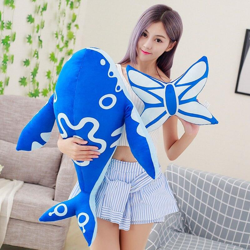 Candice Guo Plush Toy Stuffed Doll King Of Glory Kun Enormous Legendary Sea Fish Zhuang Zhou Beast Butterfly Pillow Cushion 1pc