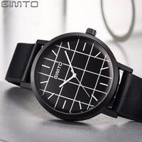 2018 Fashion Men Watch GIMTO Top Brand Leather Quartz Lovers Wristwatch Creative Clock Male Sport Wristwatch