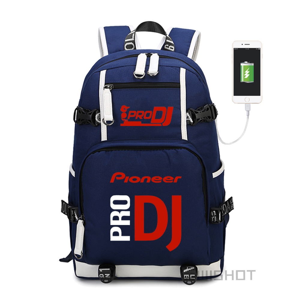 Wishot  Pioneer Dj Pro Backpack Shoulder Travel School Bag  For Teenagers  With Usb Charging  Laptop Bags #2