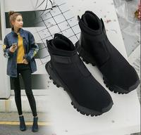 Female Fashion Ankle Boots Black Hook Loop Lady Hip Hop Autumn Shoes Woman Boots35 40