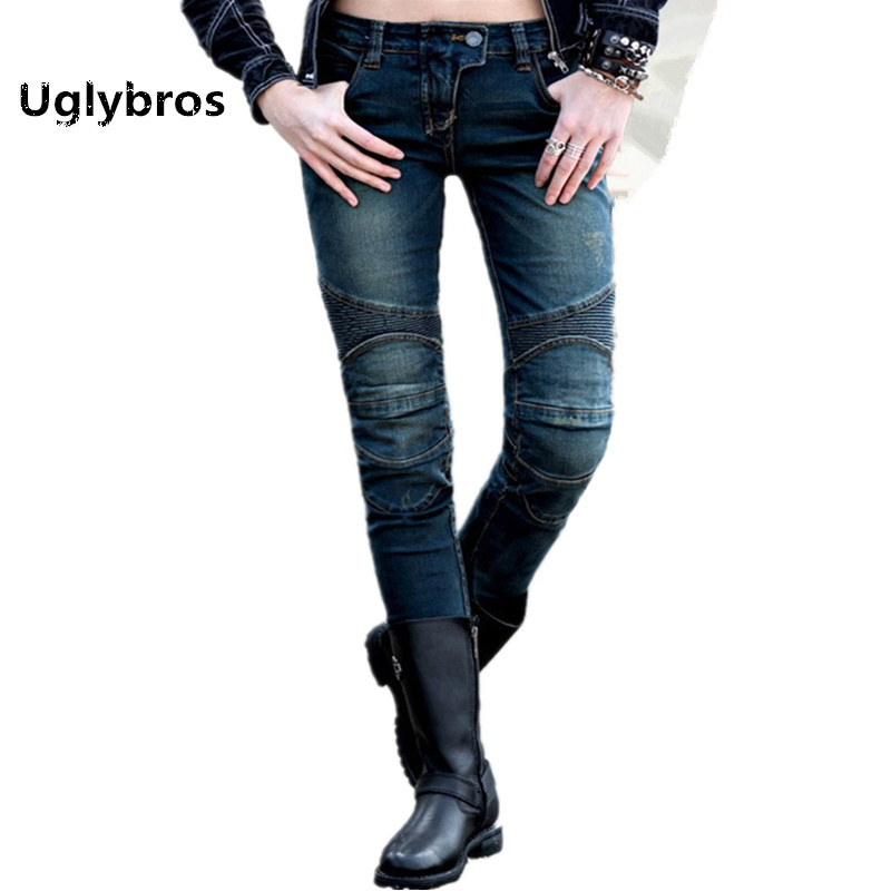Uglybros Featherbed - Ubs02 Jeans Gray Blue Fashion Women's Jeans Motorcycle Protective Pants Racing Pants moto Jeans