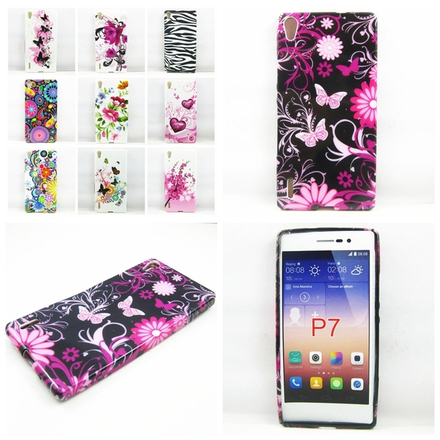 separation shoes c0cd4 7206e US $2.98 |Huawei P7 Case Butterfly flower Zebra TPU Gel Silicone Case Cover  for Huawei Ascend P7 Phone Cases-in Fitted Cases from Cellphones & ...