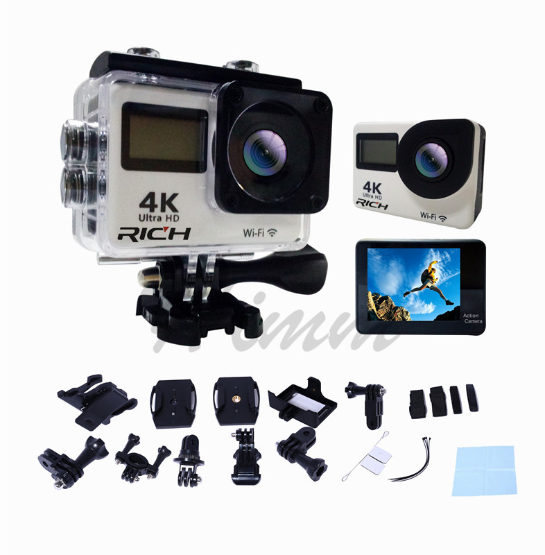 T350R ultra FHD 4K Action Camera WiFi 1080P 60fps 2.0 LCD 170D Full HD 30M WaterproofVideo Action DV Sports Camera add memory цена
