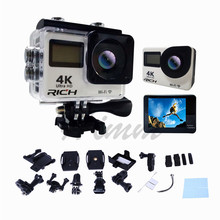 T350R ultra FHD 4K Action Camera WiFi 1080P 60fps 2.0 LCD 170D Full HD 30M WaterproofVideo Action DV Sports Camera add  memory