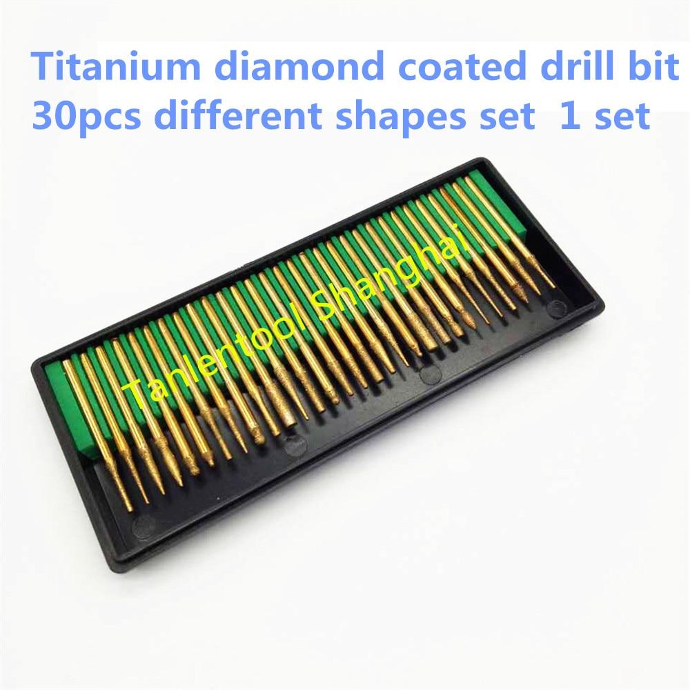 """""""Talentool dremel"""" naudoti D3mmXL45mm 30 vnt. Su titanu dengto aukščiausios klasės titano dengto gręžimo grotelės"""
