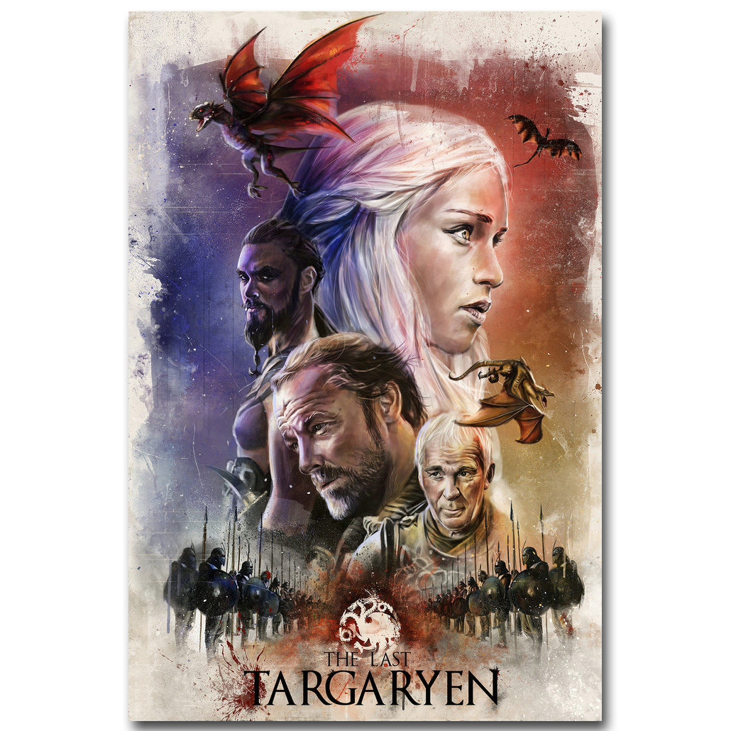 Game of thrones art silk fabric poster print 13x20 24x36 for Game of thrones garden ornaments