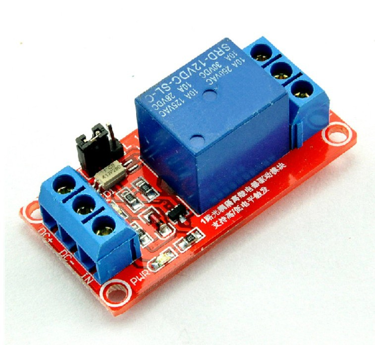 12 V Relay Module Support The High And Low Level Trigger