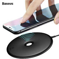Baseus 10W Qi Wireless Charger Pad For iPhone Xs Max Xr X 8 Samsung Note 9 8 S8 S9 Fast Wireless Charging Dock Desktop Station