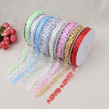 BABY Letter Modeling Belt Headdress Lace Ribbon Webbing Accessories 1.3cm *20 Yards Cake Gift Box
