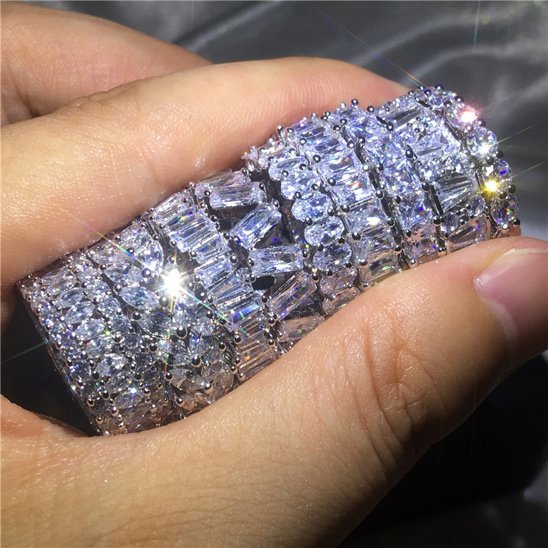 9 Stili di Marca anello di Barretta AAAAA Cz Pietra Sona 925 sterling silver Fidanzamento wedding band ring per le donne degli uomini Dito gioielli