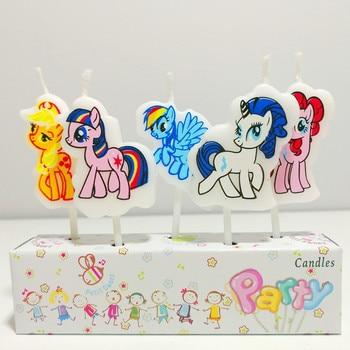 5 Pcs/Set Cute Cartoon Unicorn Candles
