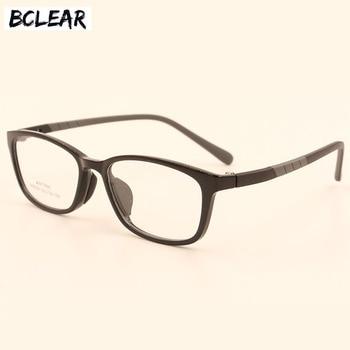 c4019cf3e4 BCLEAR de alta calidad marco TR gafas de moda hombres mujeres gafas montura  Vintage nuevo espectáculo prescripción gafas 6 colores