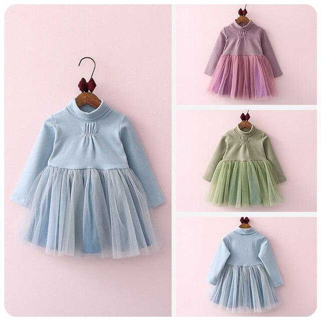 2016 Korean Garment Autumn  Winter New Pattern Girl Baby Yarn Split Joint Increase Down Thickening Girl Jacket Skirt