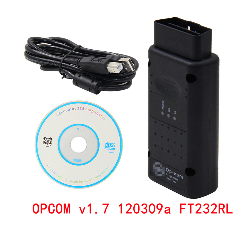 OP COM For Opel V1.7 120309a PIC18F458 FLASH FW Car Diagnostic Scanner PIC18f458 OPCOM Car Diagnostic Tool Flash Firmware