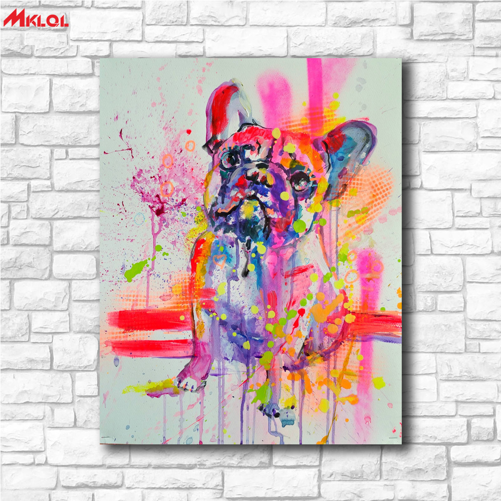 Home Goods Artwork: Home Goods Wall Art Lovely Dog Canvas Printed Oil Painting
