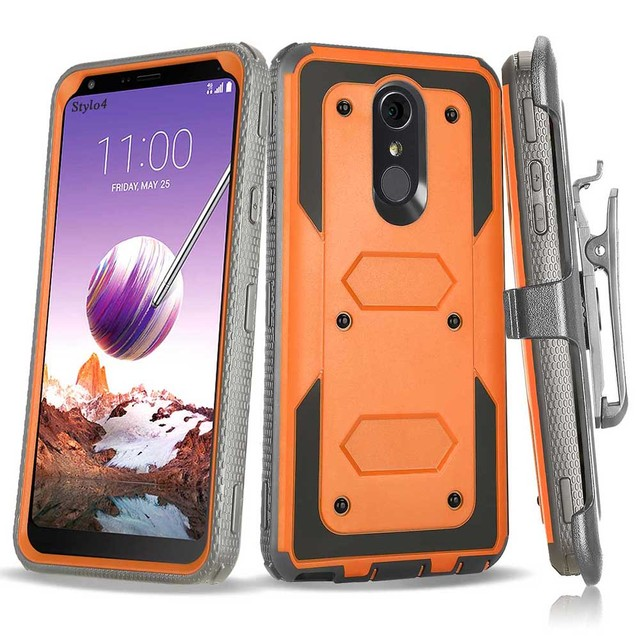 new styles 03570 99d57 For LG Stylo 4 Q710MS/Q Stylus/Q Stylus 4 Plus Case Heavy Duty Hybrid  Rugged Belt Clip Holster Shockproof Protective Tough Cover