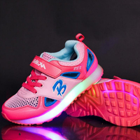 BBX Brand LED Lighted Fashion Children Shoes Casual Hot Girls Boys Sneakers Cool Baby Kids Shoes