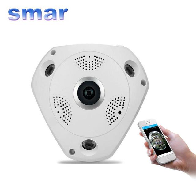 Lo nuevo de 360 Grados Panorama VR Cámara HD 960 P Cámara IP Inalámbrica WIFI Seguridad Para El Hogar Sistema de Vigilancia Mini Cámara CCTV P2P