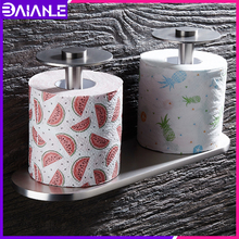 Toilet Paper Holder Creative Aluminum Brushed Double Bathroom Roll Paper Holder Decorative Paper Towel Holder Rack Wall Mounted resin music dogs bathroom towel rack creative european bathroom toilet roll holder paper cassette holder pumping tray decoration