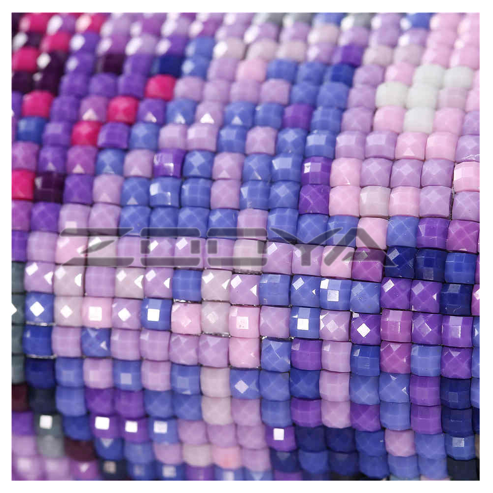 DIY 5D Diamond Mosaic  Diamond Painting Cross Stitch Purple Flowers Kit Diamonds Embroidery  Square Drill Home Decoration BJ375